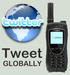 Tweet from an Iridium Satellite Phone